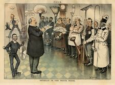 GROVER CLEVELAND CONDUCTS REVEILLE IN THE WHITE HOUSE INMATES COOK NEGRO SERVANT