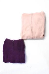 J Crew  Womens Cashmere Hooded Sweatshirt Pink Purple Size Extra Large LOT 2