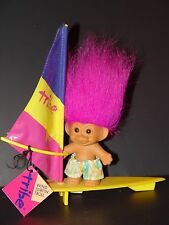 "Troll Doll 4 1/2"" Russ Tribe Wind Surfer Purple Hair Rare"