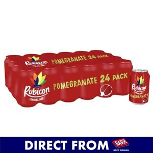 RUBICON Sparkling Pomegranate Fizzy Drink - 24x330ml - Official Seller