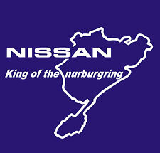 NISSAN GTR PULSAR SKYLINE KING OF THE NURBURGRING STICKER IN WHITE ALL COLOURS