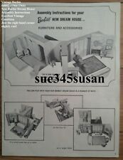 Vintage Barbie #4092 New Barbie Dream House Assembly Instructions EVC 1964