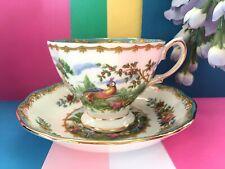 """Rare Vintage Royal Albert China """"Chelsea Bird"""" Tea Set Duo, Teacup & Saucer Set"""
