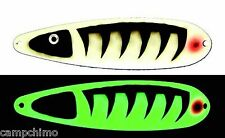 "MOONSHINE LURES GLOW IN THE DARK MAGNUM 5"" TROLLING SPOON - SAND BURR"