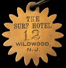 ANTIQUE HISTORIC THE SURF HOTEL WILDWOOD NEW JERSEY NJ SHORE BEACH ROOM KEY FOB