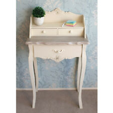 Devon Cream Painted Writing Desk With 3 Drawers Finished in a Shabby Chic Style