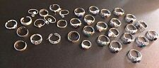 HUGE Lot of 35 Solid Sterling Silver  Gemstone Rings & Toe Rings New Old Stock