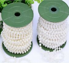 10m of 6mm Bead Pearl String Ivory for Craft , Wedding Decoration