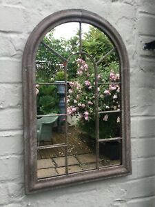 Gothic Arched Petite Rustic Style Mirror ..Outdoor/Indoor....