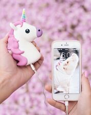 Unicorn White Emoji Cartoon Portable External Battery Charger Power Bank | USA