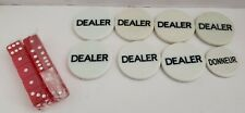 8 Texas Holdem Poker Dealer Buttons 10 New Dice
