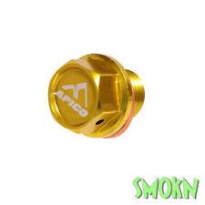 Apico Magnetic Sump Drain Bolt fits Suzuki RM 125 250 01-08 DRZ 400 00-17 Gold