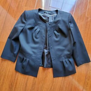 Anne Klein Gray 2 piece Skirt Suit Size 8 Petite Lined