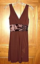 Sz Medium Brown Informal/ Formal Prom Evening Clubwear Wedding Cocktail Dress
