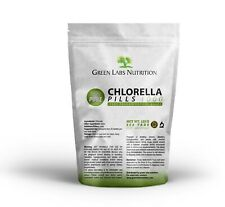 CHLORELLA ORGANIC SUPERFOOD PILLS TABLETS NATURAL DETOX ANTIOXIDANTS VITAMINS