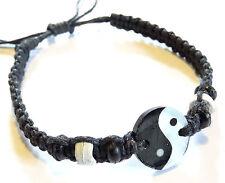 Bracelet Yin Yang brésilien Friendship Bijoux Nacre Macramé Ajustable