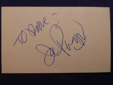 Joe Piscopo Signed Index Card with COA