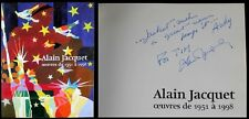 Alain Jacquet Inscribed & Signed Exhibition Book