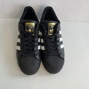 Adidas Original Superstar Black Shell Toe Sneakers Women's Size 7