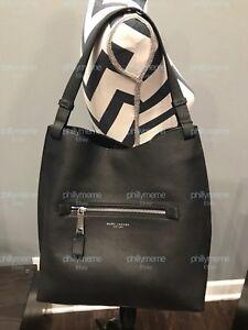 NWT Marc Jacobs Large Waverly Leather Hobo Shoulder Bag BLACK SILVER + DUST BAG
