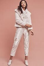 NWT Antropologie By Hei Hei Sequin Shift Joggers Sparkling Pants SZ M $188