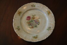 Wonderful Vintage Bohemia Rococo Dresden Flower Decorated Cabinet Wall Plate #3
