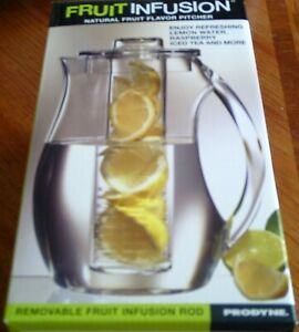 Prodyne Fruit Infusion Natural Fruit Flavor Pitcher, Fi-3, Brand New