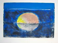 "Arthur secunda ""Sun and the Sea,"" 2008, Mixed Media Monotype"