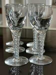 VINTAGE STUART CRYSTAL ARIEL DESIGN PORT GLASSES X 6