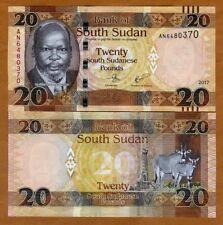 South Sudan, 20 Pounds, 2017, P-13c UNC