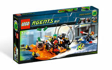 *BRAND NEW* LEGO 8968 Agents RIVER HEIST *LIGHTLY DENTED*