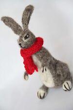 Ago Felted Hare, lavorato a mano, lana naturale regalo, decorazione, ornamento