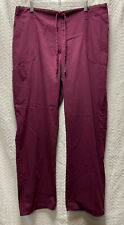 Scrubstar Wine Red Size Large Scrub Pants Elastic With Drawstring