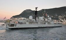 ROYAL NAVY TYPE 42 DESTROYER HMS YORK AT GIBRALTAR IN FEBRUARY 2011