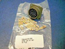 Amphenol PT02SE14-198 Box Mount 19 Pin Circular Connector + M39029/32-259 Gold