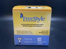 FreeStyle 100 Count Blood Glucose Test Strips Exp: 05/31/2022