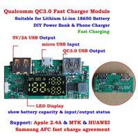 QC3.0 USB 3.7V Lithium 18650 Battery Fast Charging Module DIY Power Bank 85%