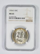 1954-S MS65 Franklin Half Dollar - 90% SILVER - PCGS Graded *908