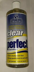32oz NATURAL CHEMISTRY CLEAR AND PERFECT POOL CLARIFIER HIGHLY CONCENTRATED uns