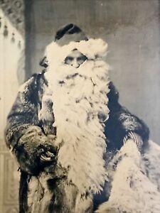 Rare! Early Victorian Santa Claus Tintype Photograph / Christmas / Beard Costume