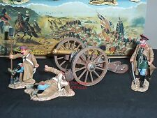 King and Country CRW04 russian gun team + canon métal toy soldier figure set