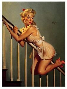 1950's Pin Up Girl Poster 6  A3 / A2  Reprint