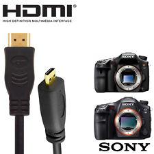Sony SLT-A58, A65, HX50, A99 Camera HDMI Micro to HDMI TV Monitor 2m Lead Cable