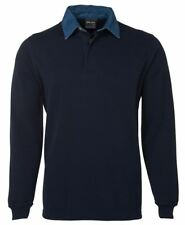 Jb's wear Mens Signature Rugby Shirt Concealed 3-Button Placket Ribbed Cuffs