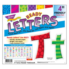 Patchwork 4-Inch Combo Classroom Display Ready Letters - 225 Characters