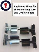 Locksport re-pinning shoes for 5 & 6 pin Both Euro/Oval cylinders 1st P&P