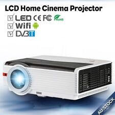 5000lms LED Home Cinema Projector Android WIFI DVB-T2 Online Movie Apps USB HDMI