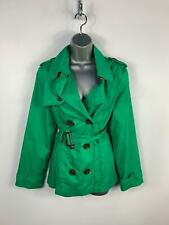 WOMENS MARKS & SPENCER BRIGHT GREEN THIN SMART/CASUAL TRENCH COAT JACKET SIZE 12