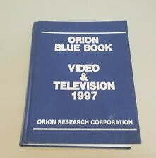 Orion Blue Book Video & Television 1997 Hardcover Orion Research Corporation