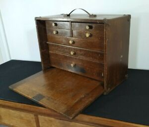 Vintage Collectors Chest Of Drawers Specimen Watchmakers Engineers Cabinet 1950s